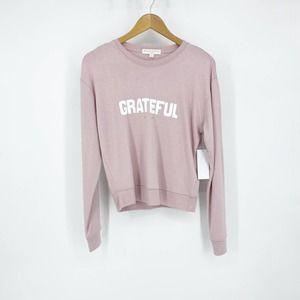 Spiritual Gangster Grateful Pullover Pink Med NWT